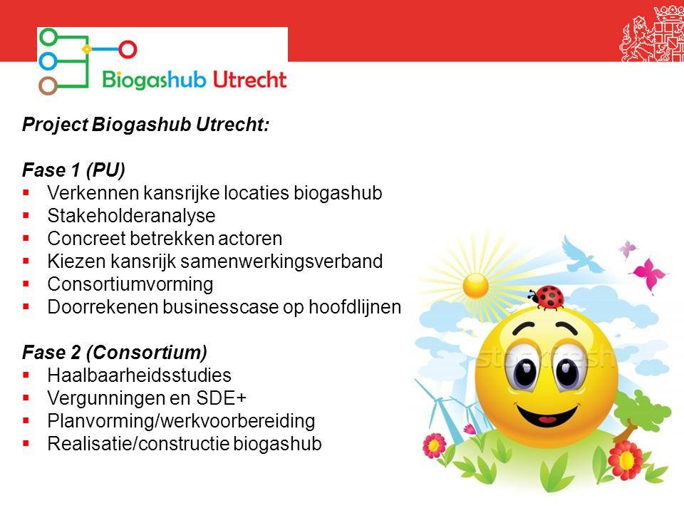 Project Biogashub Utrecht: