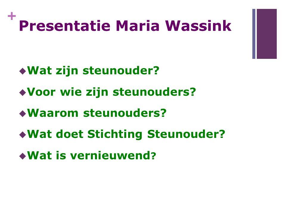 Presentatie Maria Wassink