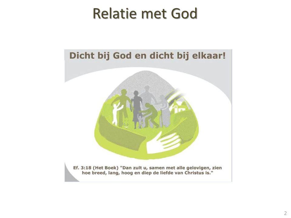 Relatie met God 2) Door genade heeft Hij ons gered!