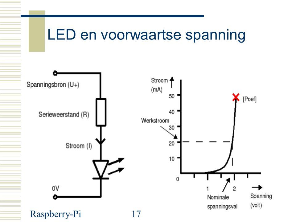 LED en voorwaartse spanning