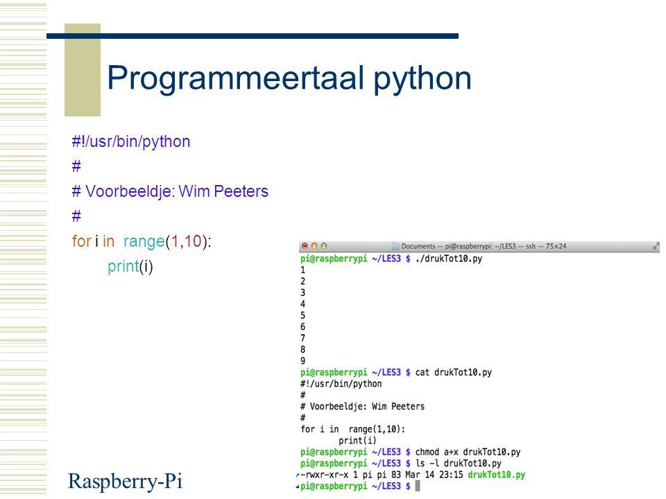 Programmeertaal python