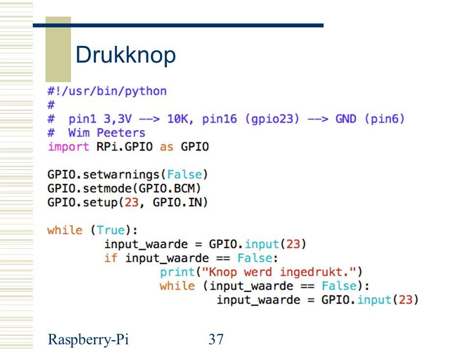 Drukknop Raspberry-Pi