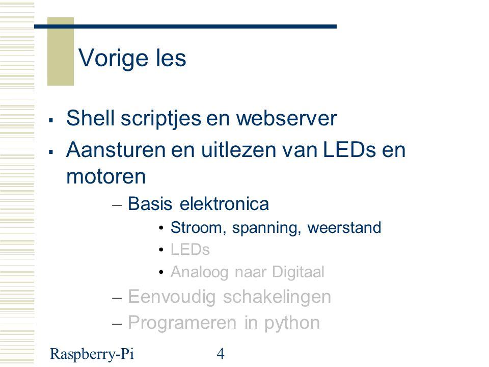 Vorige les Shell scriptjes en webserver