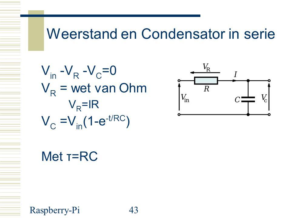 Weerstand en Condensator in serie