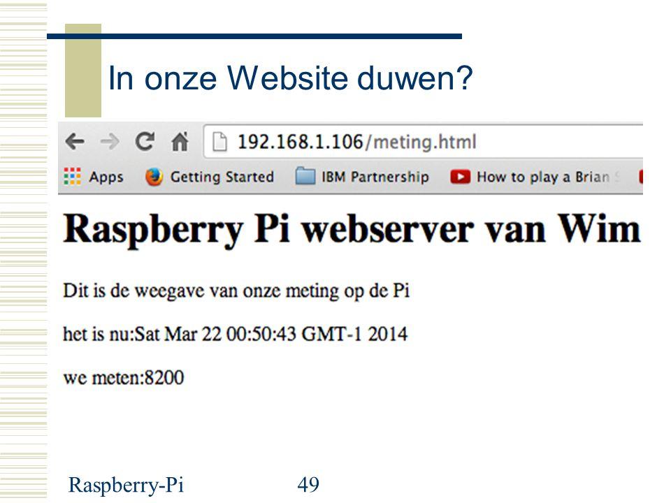 In onze Website duwen Raspberry-Pi