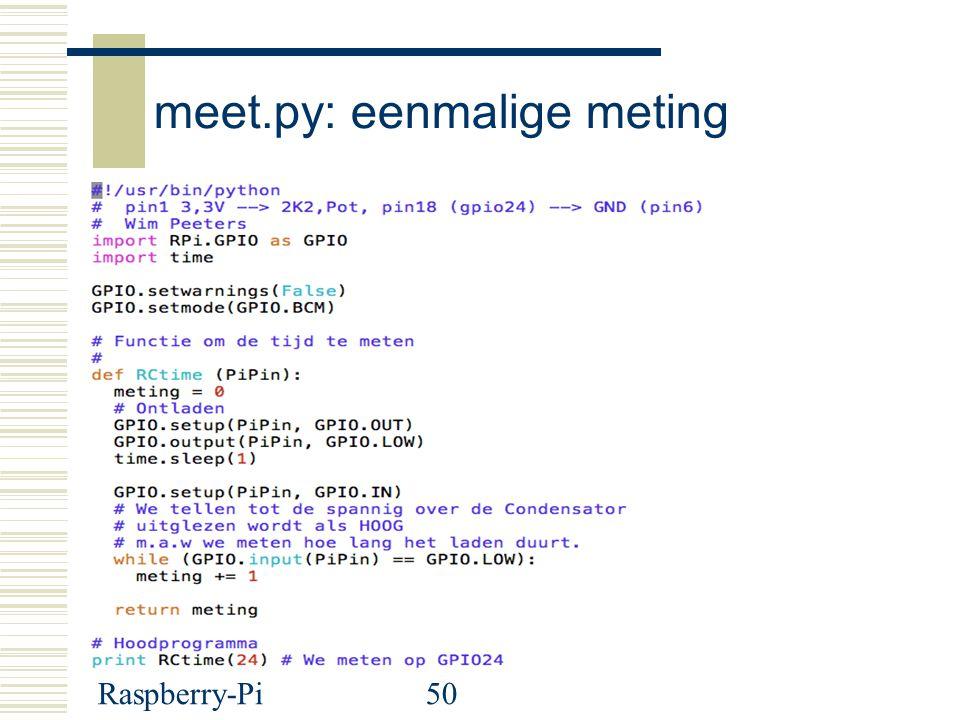 meet.py: eenmalige meting