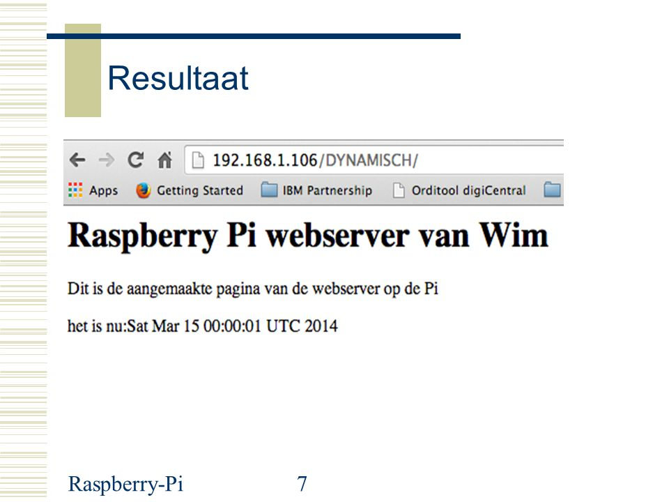 Resultaat S Raspberry-Pi