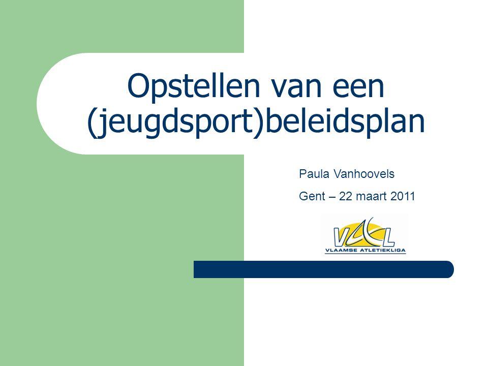 Opstellen van een (jeugdsport)beleidsplan