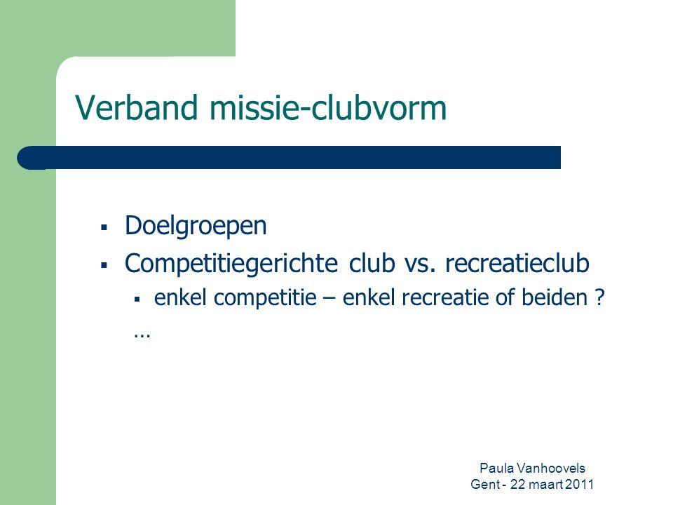 Verband missie-clubvorm