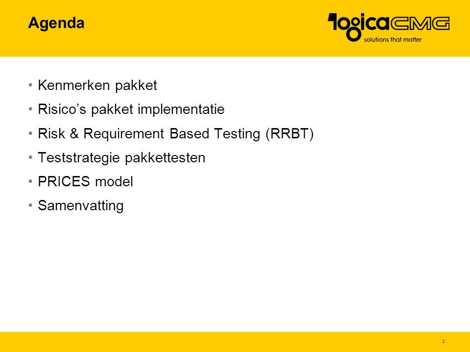 Agenda Kenmerken pakket Risico's pakket implementatie