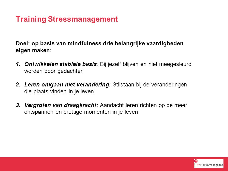 Training Stressmanagement