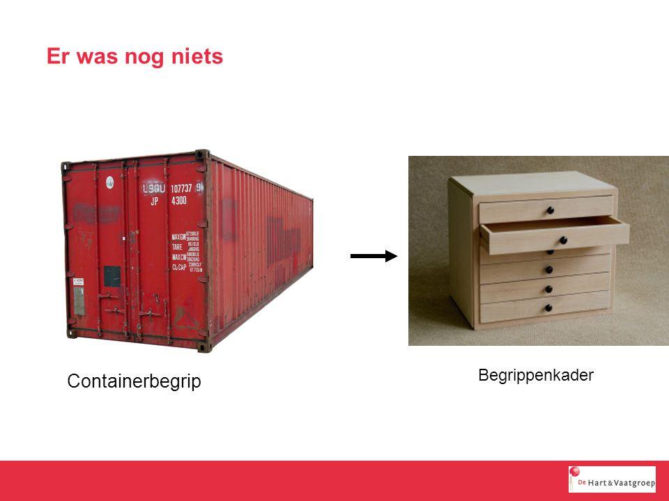 Er was nog niets Begrippenkader Containerbegrip