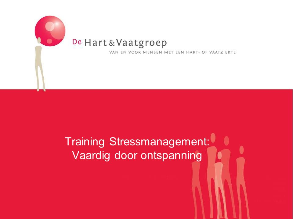 Training Stressmanagement: Vaardig door ontspanning