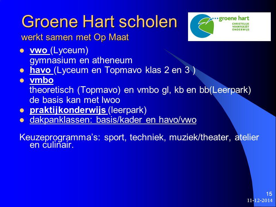 Groene Hart scholen werkt samen met Op Maat