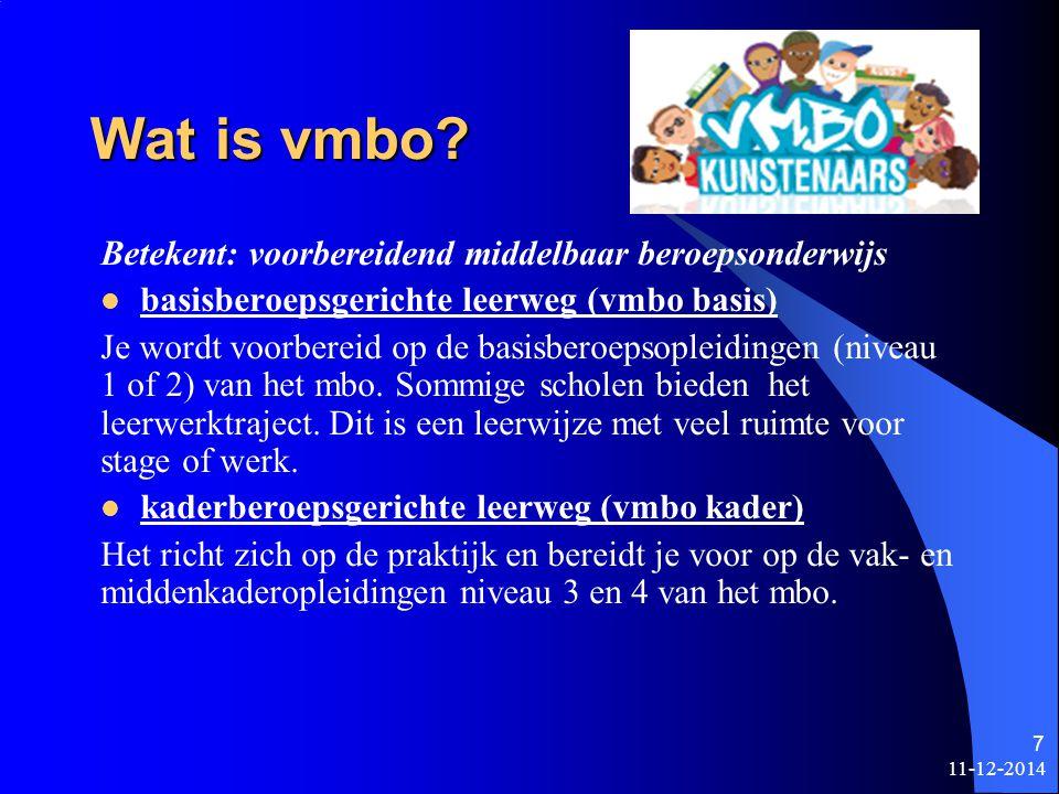 Wat is vmbo Betekent: voorbereidend middelbaar beroepsonderwijs