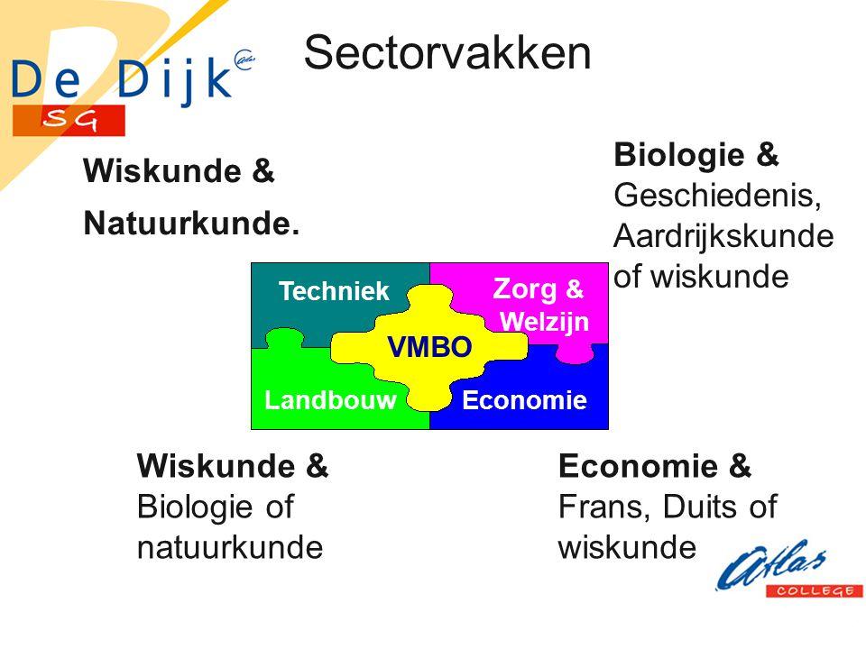 Sectorvakken Biologie & Geschiedenis, Aardrijkskunde of wiskunde