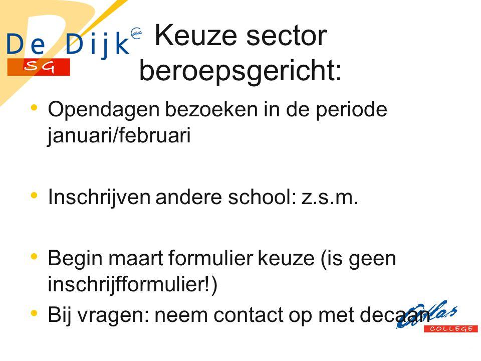 Keuze sector beroepsgericht: