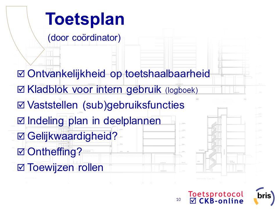 Toetsplan (door coördinator)