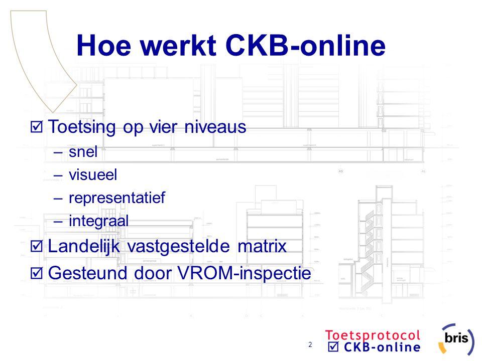 Hoe werkt CKB-online Toetsing op vier niveaus