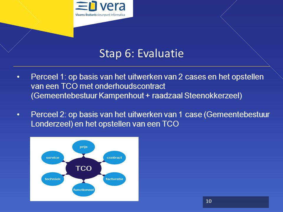 Adviescomité IT Noord Stap 6: Evaluatie.