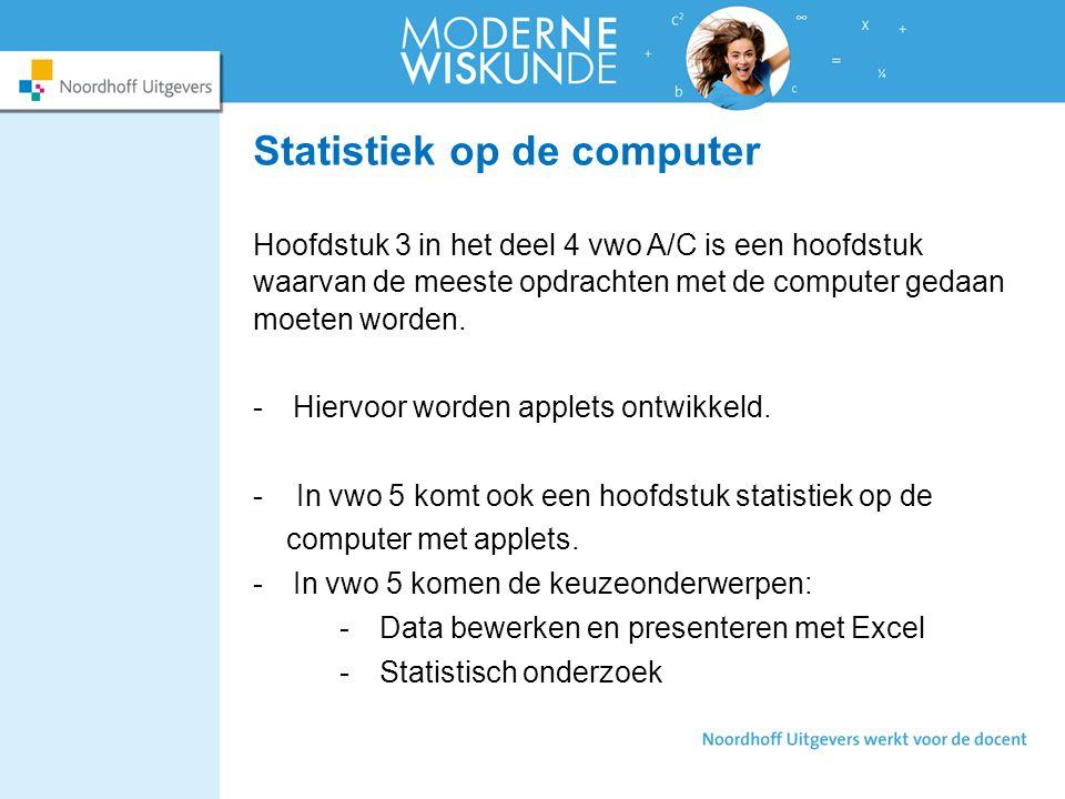 Statistiek op de computer