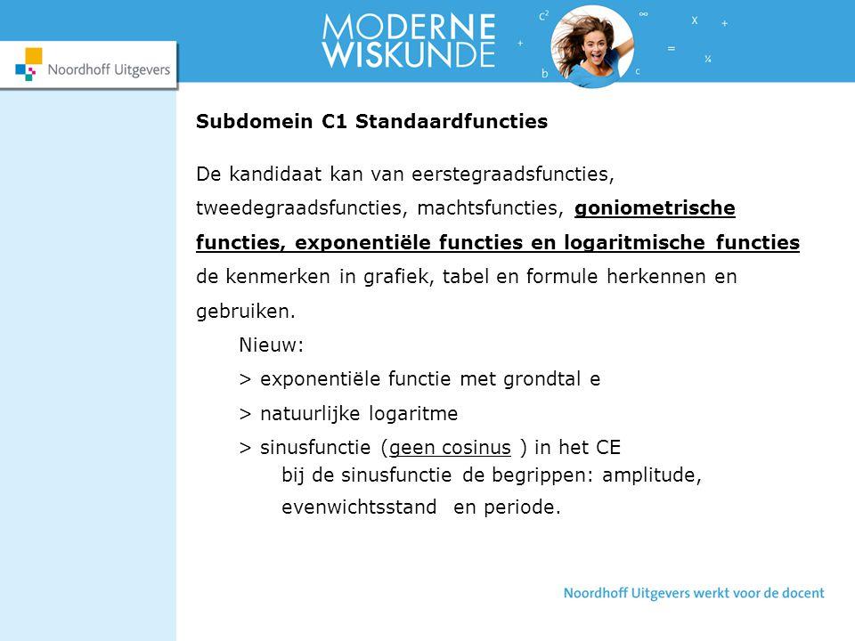 Subdomein C1 Standaardfuncties