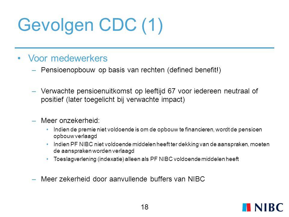 Gevolgen CDC (1) Voor medewerkers