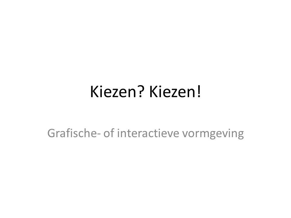 Grafische- of interactieve vormgeving