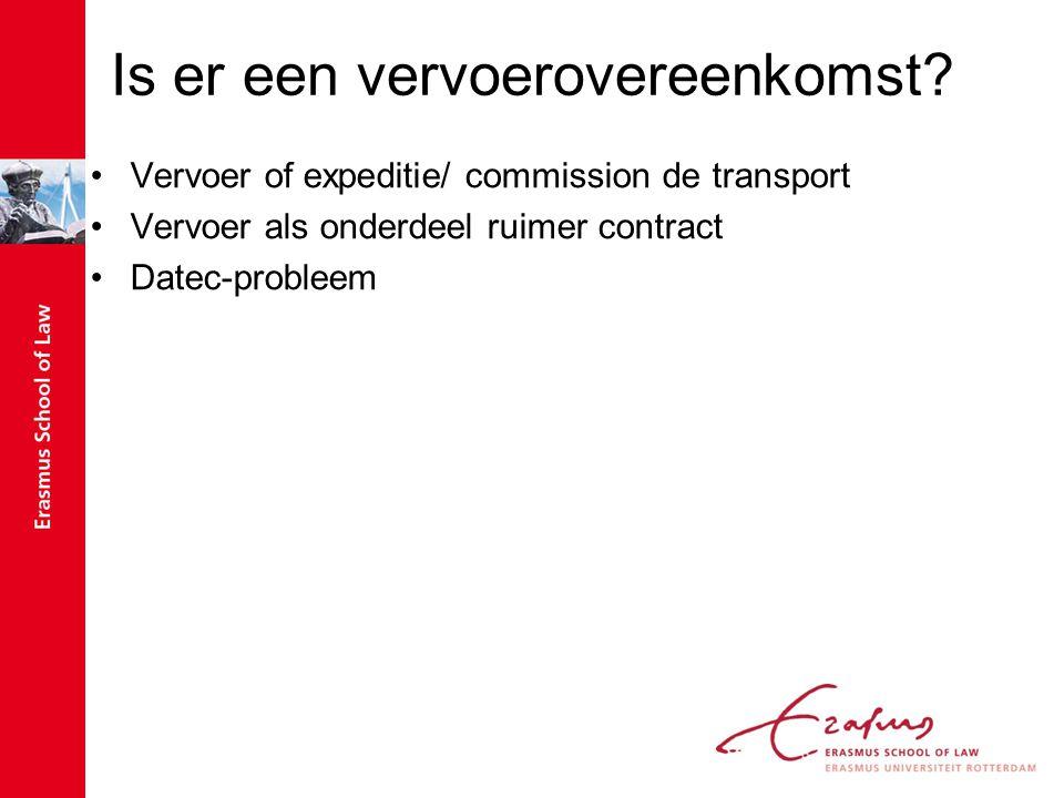 Is er een vervoerovereenkomst