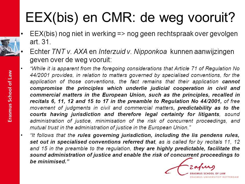 EEX(bis) en CMR: de weg vooruit