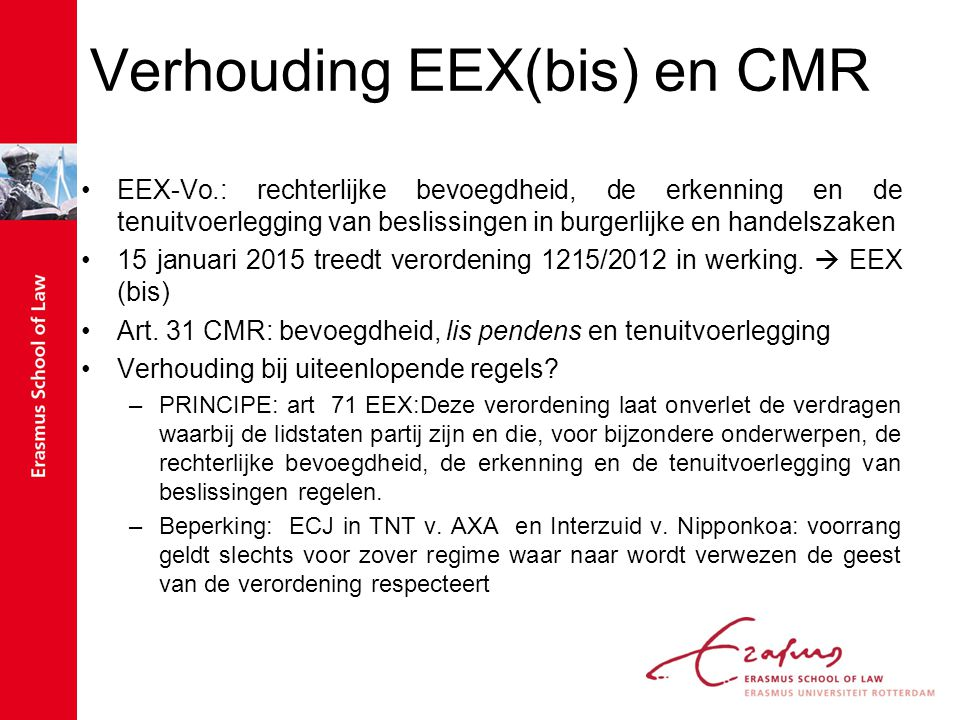 Verhouding EEX(bis) en CMR