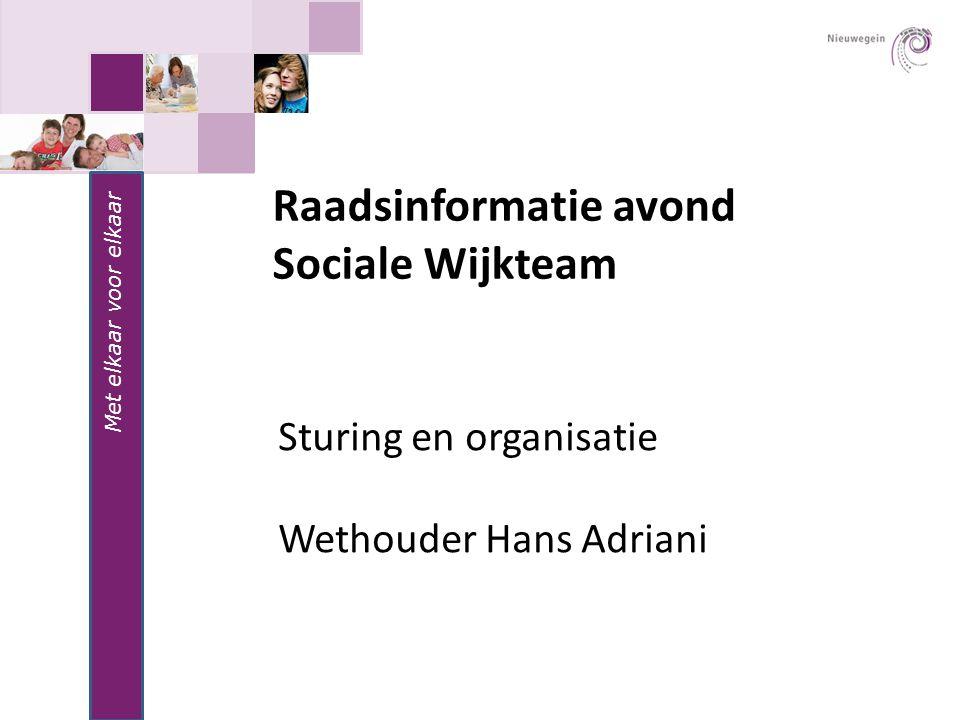 Raadsinformatie avond Sociale Wijkteam