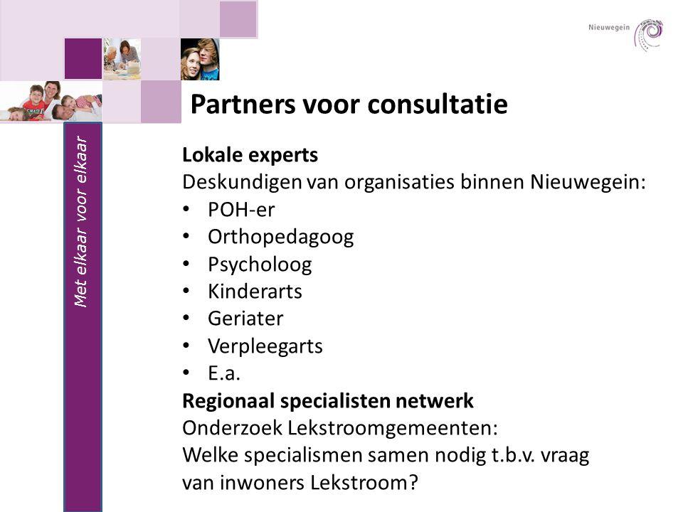 Partners voor consultatie