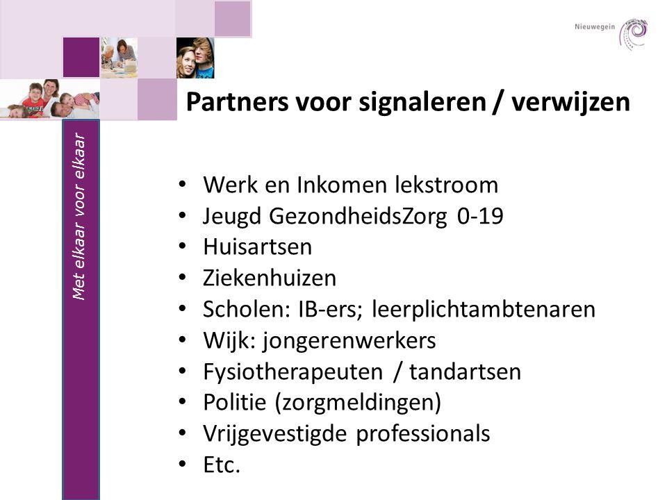 Partners voor signaleren / verwijzen