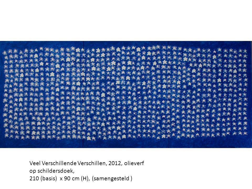 Veel Verschillende Verschillen, 2012, olieverf op schildersdoek, 210 (basis) x 90 cm (H), (samengesteld )