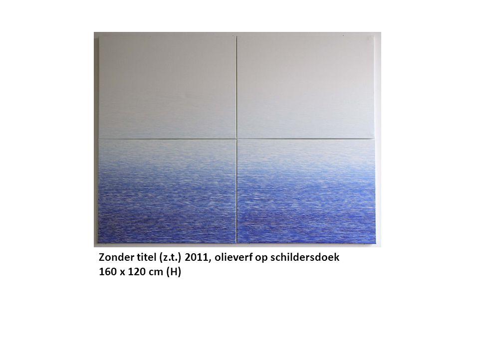 Zonder titel (z.t.) 2011, olieverf op schildersdoek 160 x 120 cm (H)