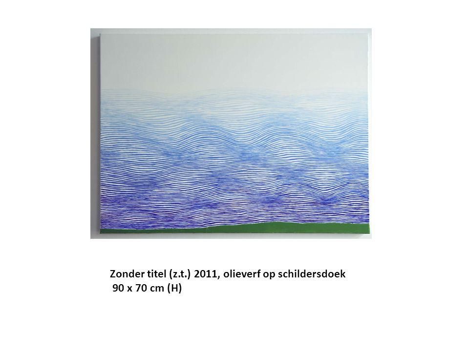 Zonder titel (z.t.) 2011, olieverf op schildersdoek 90 x 70 cm (H)