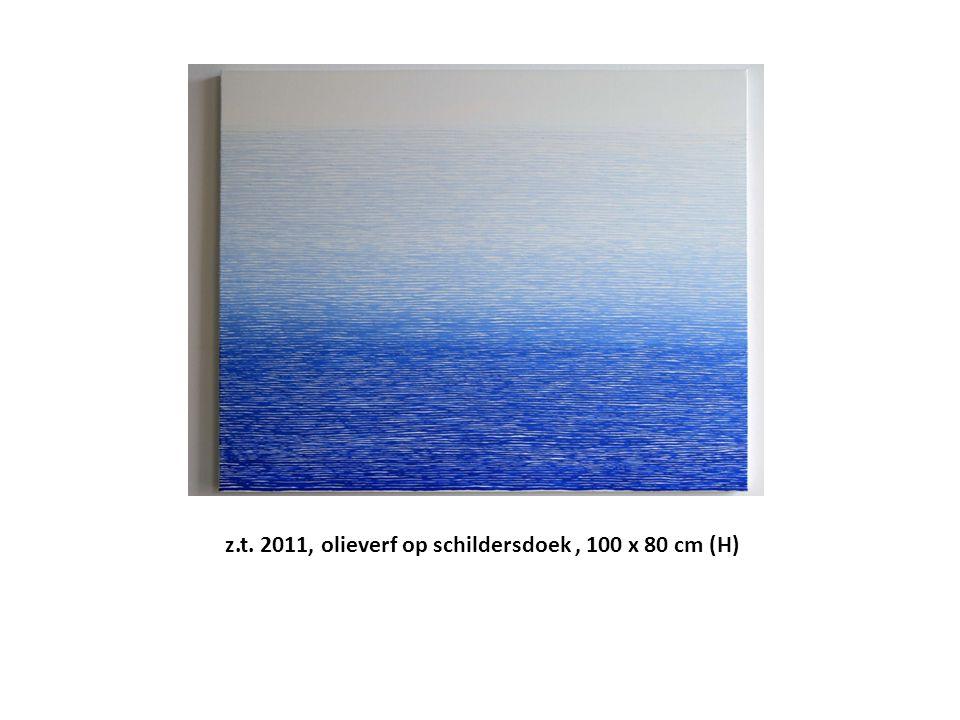 z.t. 2011, olieverf op schildersdoek , 100 x 80 cm (H)