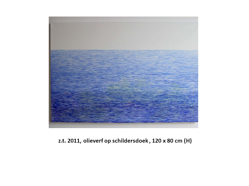 z.t. 2011, olieverf op schildersdoek , 120 x 80 cm (H)