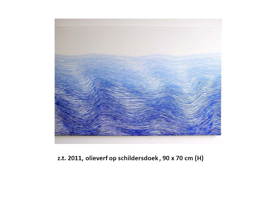 z.t. 2011, olieverf op schildersdoek , 90 x 70 cm (H)