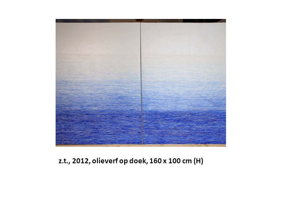 z.t., 2012, olieverf op doek, 160 x 100 cm (H)