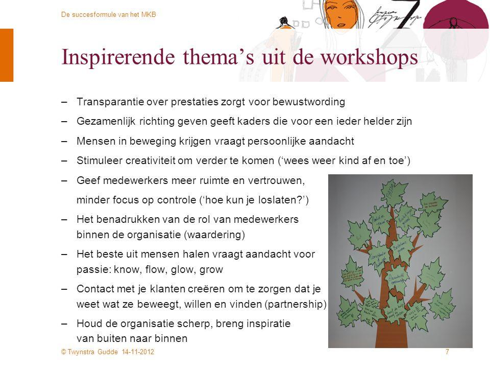 Inspirerende thema's uit de workshops