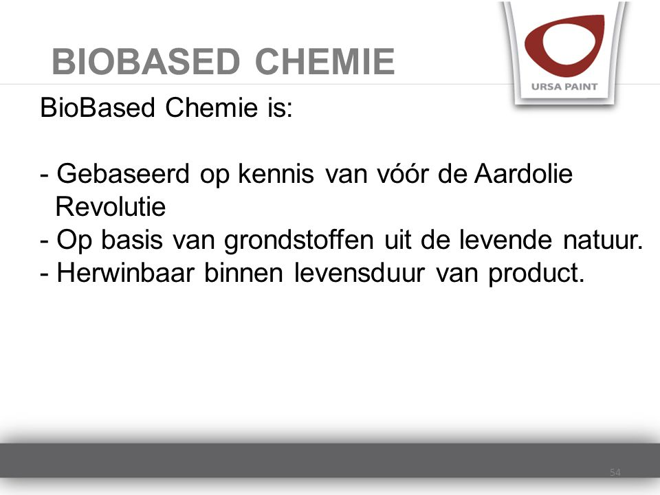 BIOBASED CHEMIE BioBased Chemie is: