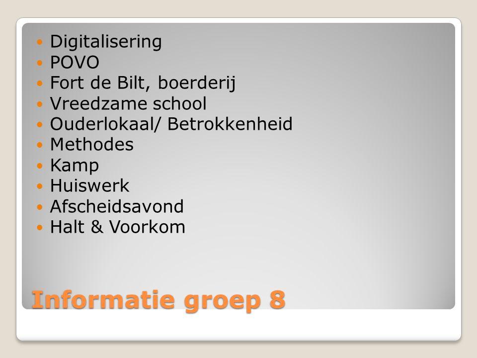 Informatie groep 8 Digitalisering POVO Fort de Bilt, boerderij