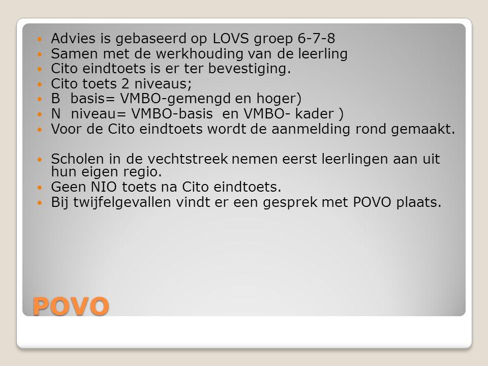 POVO Advies is gebaseerd op LOVS groep 6-7-8