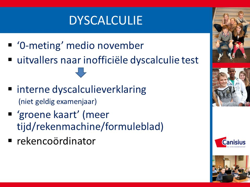 DYSCALCULIE '0-meting' medio november