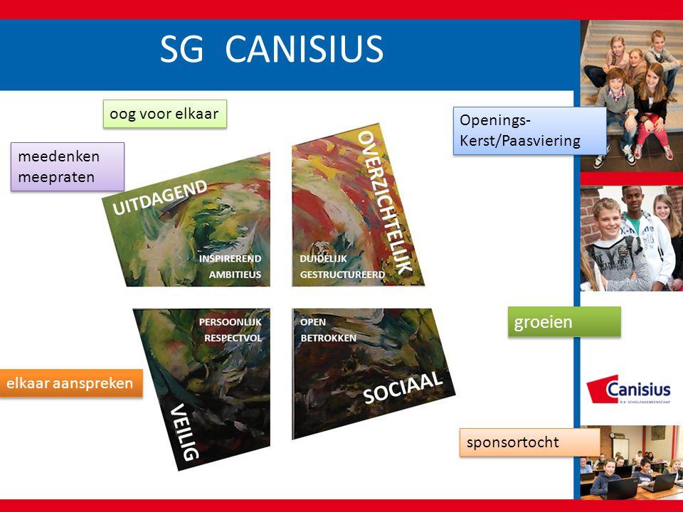 SG CANISIUS groeien oog voor elkaar Openings-Kerst/Paasviering
