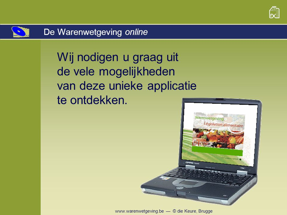 De Warenwetgeving online
