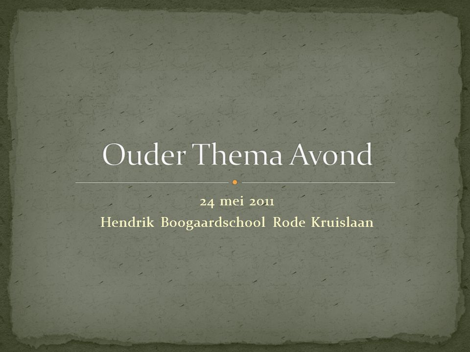 24 mei 2011 Hendrik Boogaardschool Rode Kruislaan
