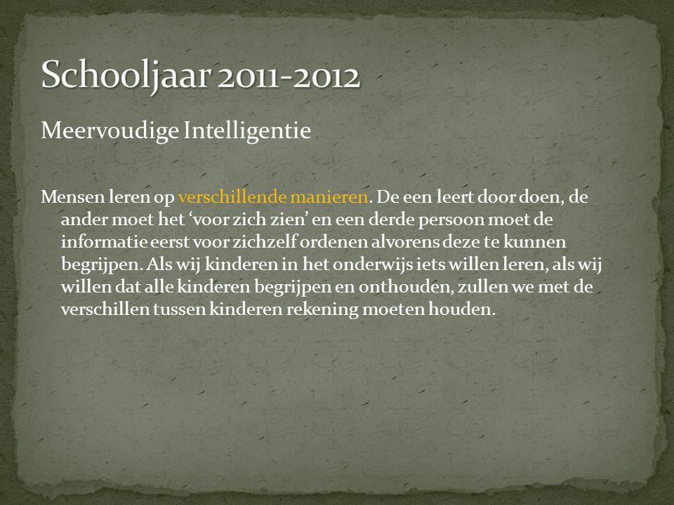 Schooljaar 2011-2012 Meervoudige Intelligentie